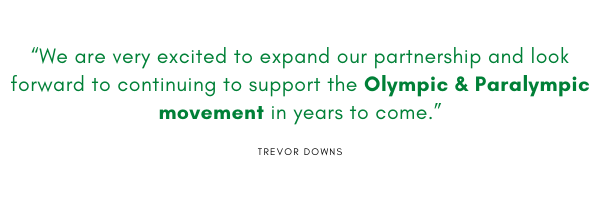 """""""We are very excited to expand our partnership and look forward to continuing to support the Olympic & Paralympic movement in years to come."""""""