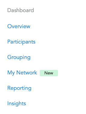 Screen Shot of Snap! Raise Dashboard with new My Network Tab